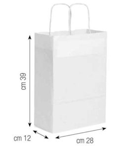 Shopper in carta 28x39x12 bianco