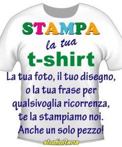 T-shirt bianca con stampa